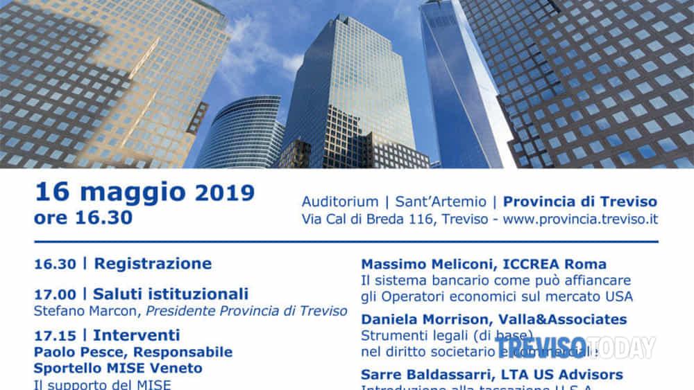 25bd6b1a4a Mercato USA: a Treviso il 16 maggio appuntamento per le aziende dedicato  all'export