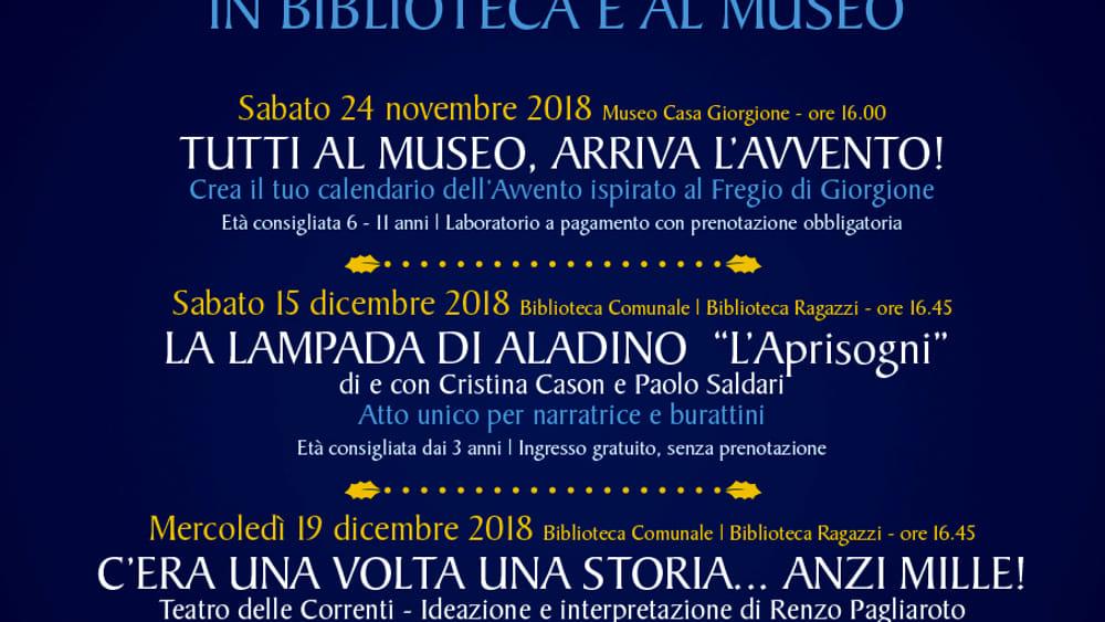 Un Natale da fiaba a Castelfranco in biblioteca e museo